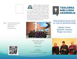 Osposobljavanje ljudi za vjerno podučavanje Božje istine Božjem
