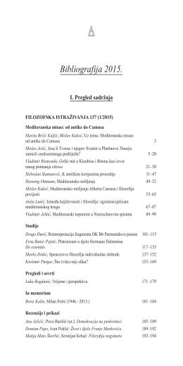Bibliografija 2015.