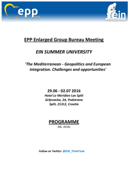 EPP Enlarged Group Bureau Meeting EIN