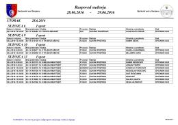 Dnevni raspored u sudnicama