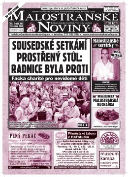 sousedské setkání - Malostranské noviny