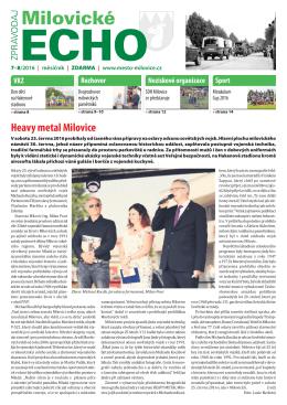 Milovické Echo 7-8/2016