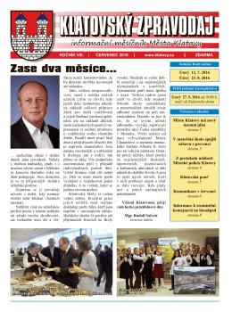 Klatovský zpravodaj 7/2016