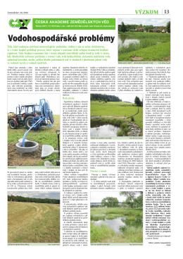 Vodohospodářské problémy - Česká akademie zemědělských věd