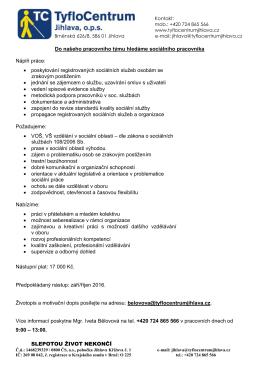 kolegu - TyfloCentrum Jihlava, ops