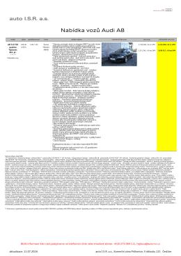 Nabídka aut - auto ISR
