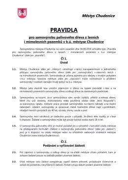 pravidla, žádost - úřad městyse chudenice
