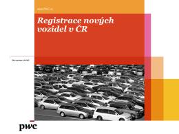Registrace nových vozidel v ČR
