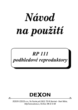 RP 111 podhledové reproduktory