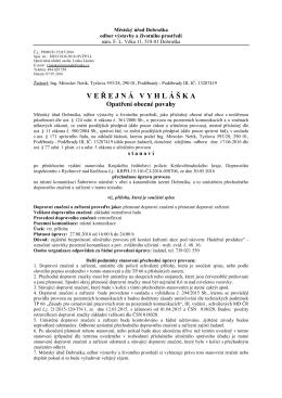Dokument - Dobruška