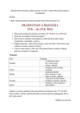 Uložit  - Základní škola Stružnice