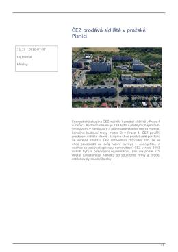 ČEZ prodává sídliště v pražské Písnici