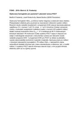Glykovaný hemoglobin pro pacienta? Laboratoř versus POCT