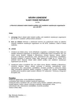 Návrh usnesení