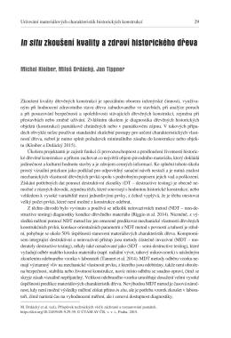 M. Kloiber, M. Drdácký, J. Tippner