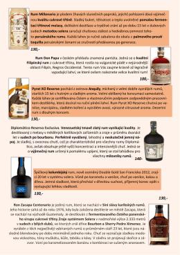 Rum Millonario je plodem žhavých slunečních paprsků, jejichž