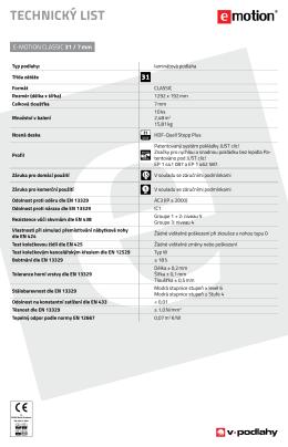 Technické listy E-MOTION - V