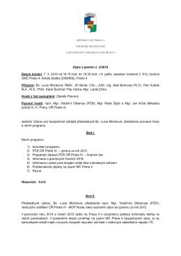 ZÁPIS - 11. zasedání Výboru pro bezpečnost