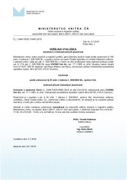VUONG VAN An - Ministerstvo vnitra České republiky