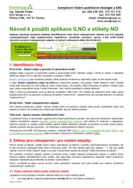 Návod k použití aplikace ILNO a etikety NO