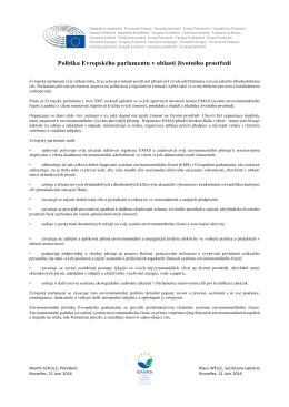 Politika Evropského parlamentu v oblasti životního prostředí