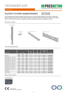 plotový systém jednostranný
