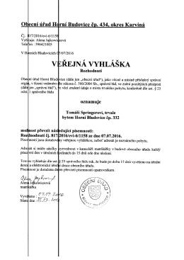 verejna-vyhlaska-cj. - Obec Horní Bludovice
