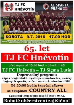 65 let FC Hnevotin