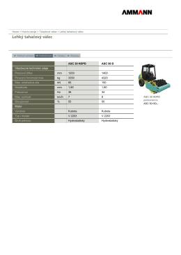 ASC 30 HDPD ASC 50 D Všeobecné technické