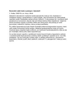 Racionální výběr testů a postupů v laboratoři