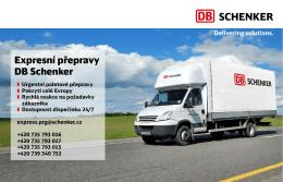 Expresní přepravy DB Schenker