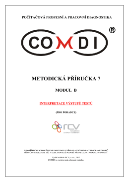 Příručka k instalaci programu COMDI