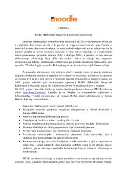 BISER - Filozofski fakultet Univerziteta u Sarajevu