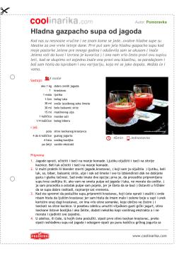 Hladna gazpacho supa od jagoda