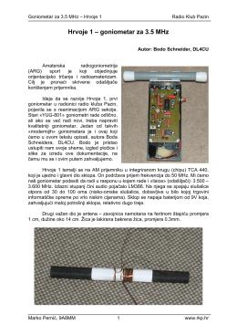 Hrvoje 1 – goniometar za 3.5 MHz