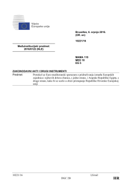 10221/16 LS/mil DGC 2B Protokol uz Euro