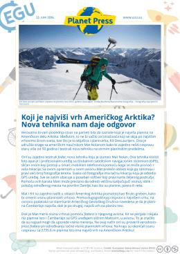 Koji je najviši vrh Američkog Arktika? Nova tehnika nam daje odgovor