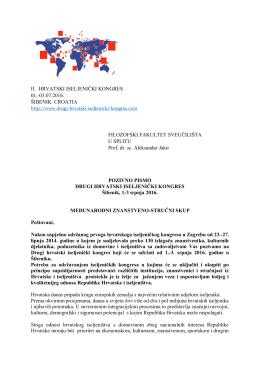 pozivno pismo - Filozofski fakultet u Splitu