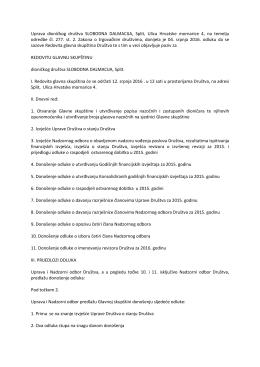 Uprava dioničkog društva SLOBODNA DALMACIJA, Split, Ulica