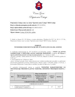 05042016 Izmjene tenderske dokumentacije