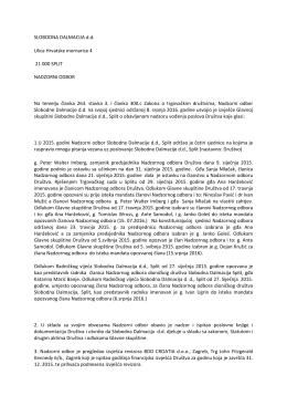 SLOBODNA DALMACIJA d.d. Ulica Hrvatske mornarice 4 21 000
