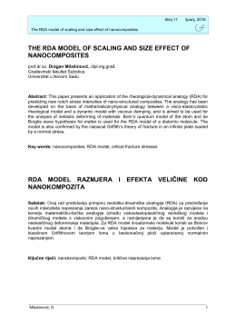 the rda model of scaling and size effect of nanocomposites