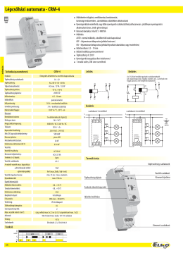 Lépcsőházi automata - CRM-4