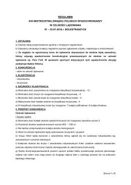 regulamin - Związek Polskich Spadochroniarzy
