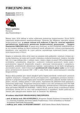 FIRE|EXPO 2016 - Klimatyzacja.pl