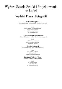 Film i fotografia WSSiP