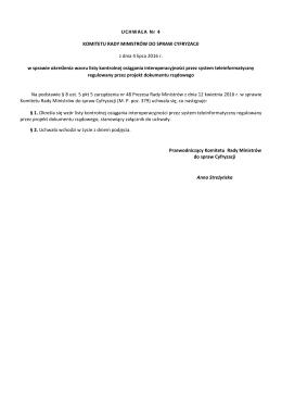 Uchwała KRMC w sprawie określenia wzoru listy kontrolnej