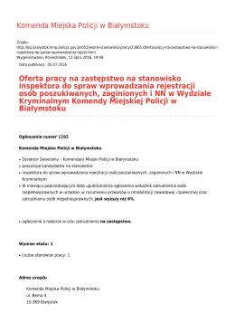 Generuj PDF - Komenda Miejska Policji w Białymstoku