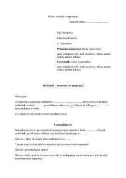 Wniosek o separację (Plik pdf, 28.35 KB)
