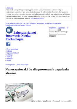Nanocząsteczki do diagnozowania zapalenia
